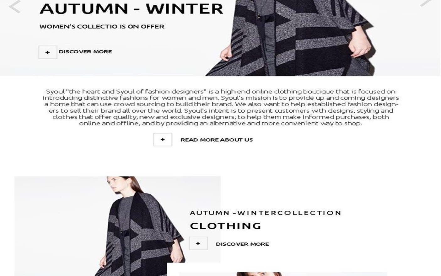 Syoul (Shop) Website